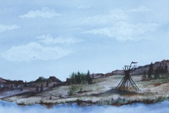colleen-gray-poles-watercolour-on-Arches-paper-12x8