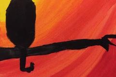 Drake - Hallowe'en Cat - Acrylic, 11 x 14
