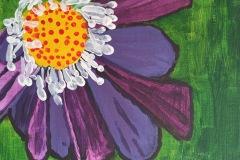 Drake - Purple Daisy - Acrylic, 8x10