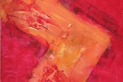 ChrisDrake03_Sunset-Flowers_Acrylic-on-Hardboard_24x36x18