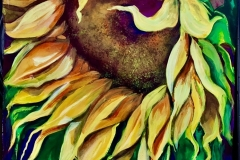 Sunflower and Hummer