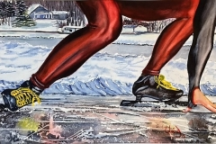 Skating the Big Rideau - 24x30