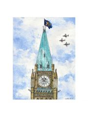Peace Tower on Canada Day