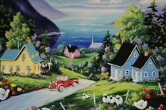 Caron - Les trois petits coquins - acrylic, 30 x30