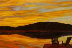 Sunset at Lake of Bay