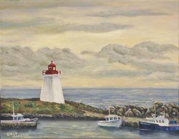 Gilly-Marston-05-East-Coast-Lighthouse-acrylic-11x14