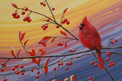 Cardinal with Berries