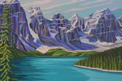 Coulterman - Moraine Lake - Acrylic, 30x40