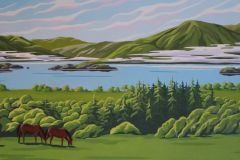 Coulterman - Misty Morning over Killarney Valley - Acrylic, 16x40