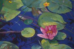 godin01_water_lilies_acrylic_12x16