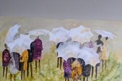 Charbonneau-Rainy Day People-Acrylic ink, 12x24