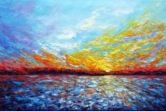 Golden Reflection Ottawa River-II