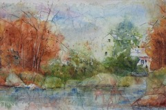 M_Huneault_3_Near-_the_Island_-Island__Watercolour-_on_-Tissue-_Paper_115-x-28