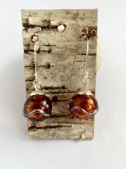 Blown Glass Earrings - Topaz