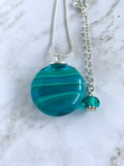 Blown Glass Pendant - Blue Green
