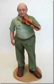Man and violin