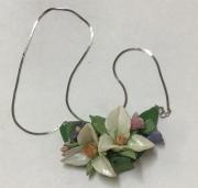 White Trillium Necklace